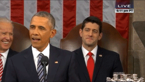 Here's Paul Ryan trying reeeeally hard not to laugh at one of Obama's jokes https://t.co/gqekuYJ1BF