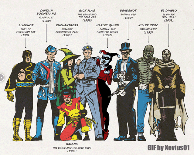 Really cool gif/comparison #Skwad #SuicideSquad https://t.co/IcDpDFDzn5