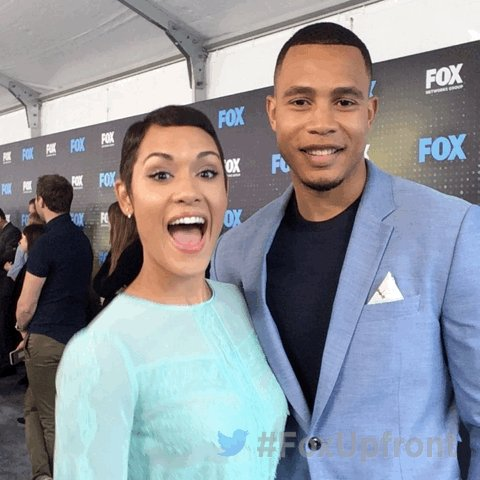 At the #FoxUpfront party with @EmpireFOX stars @LadyGraceByers and @JustTrai