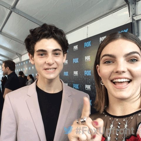 At the #FoxUpfront party with @realdavidmazouz and @camrenbicondova from @Gotham
