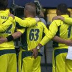 .@CricketAus unusual approach to their national anthem caught on camera in Wellington. https://t.co/K1LUqGQSLz https://t.co/pJdIrNX061