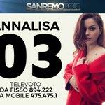 Se volete votarmi stasera a #Sanremo2016 il mio CODICE è lo 03! https://t.co/vLCAvdXIKs