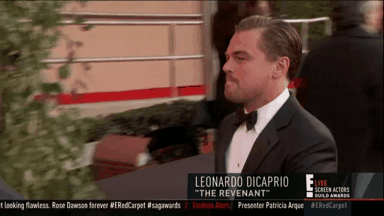RT @enews: MAKE WAY FOR LEONARDO DICAPRIO. #SAGAwards ❤ https://t.co/QEzGaYgVGd
