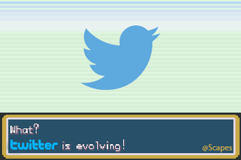 Quick, press B! Stop Twitter from evolving! #RIPTwitter https://t.co/4z3tg8YJSe