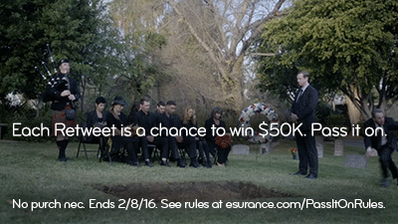 Bundle your auto + home coverage = save. Think of it like running the option. #EsuranceSweepstakes #SB50 https://t.co/X9e3J5OPRr