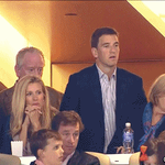 Eli doesn't look thrilled that Peyton is going to catch him in Super Bowls: https://t.co/cPyKieYE8o https://t.co/bzwvcDJYEN