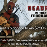 .@deadpoolmovie came to the rescue of a wayward kitty in our commercial … or did he? #EsuranceSweepstakes #SB50 https://t.co/H1nVxIA12y