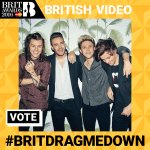 Thanks to everyone whos voted for 1D to win Best Video at this years #Brits. Keep voting using #BRITDRAGMEDOWN https://t.co/GXFUxHDeuL
