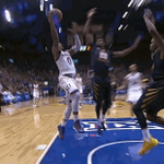 Last year at the Phog, @Big12Refs gave Brandon a technical for this (For what? I dont know. For not blinking?) https://t.co/gRmijOvfoO