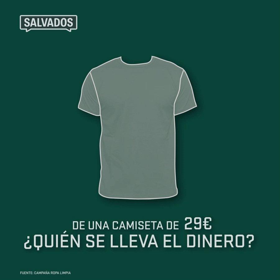 Vas de compras. Escoges una camiseta. Vale 29€. Lo pagas. ¿Sabes quién se queda ese dinero? Domingo #FashionVictims https://t.co/W4cyKQsANl