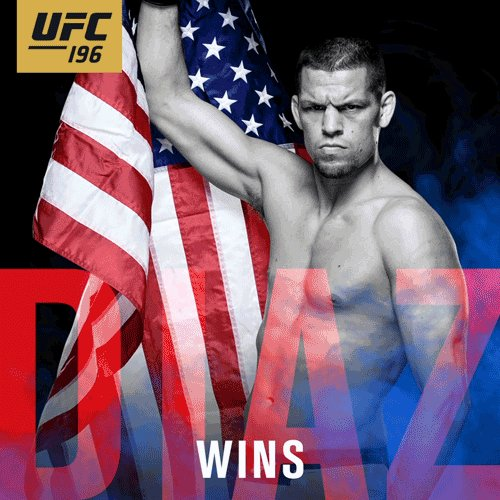 Noite das zebras! @NateDiaz209 finaliza @TheNotoriousMMA no segundo round no #UFC196! https://t.co/ErnkpjAnLq