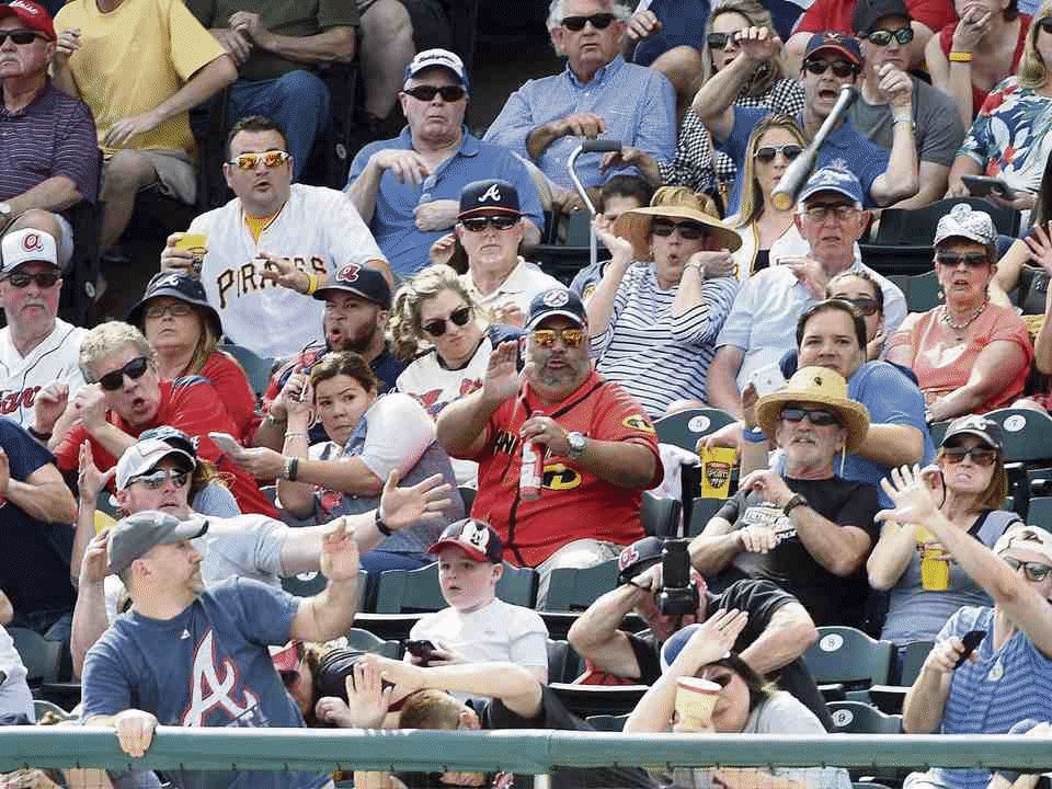 UPDATE with more photos: Fan saves boy's face from flying baseball bat, via @BiertempfelTrib https://t.co/10MwcI8gYq https://t.co/z3559tcgLK