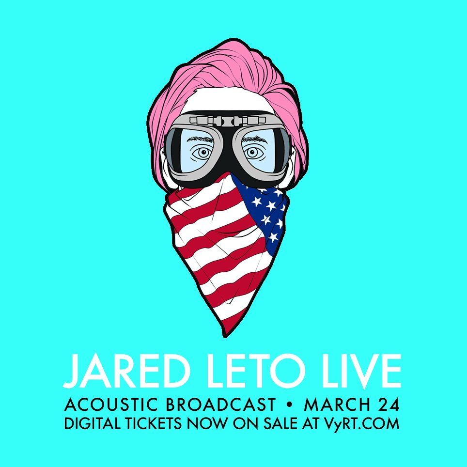 RT @VyRT: Missed the frenzy? Tix for @JaredLeto's Live Acoustic broadcast NOW ON SALE + going FAST. — https://t.co/ykGqvYBCvM https://t.co/…