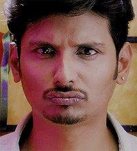#PokkiriRaja ..hahha ds reaction of #jiiva ...just a like #Disney film #character ..