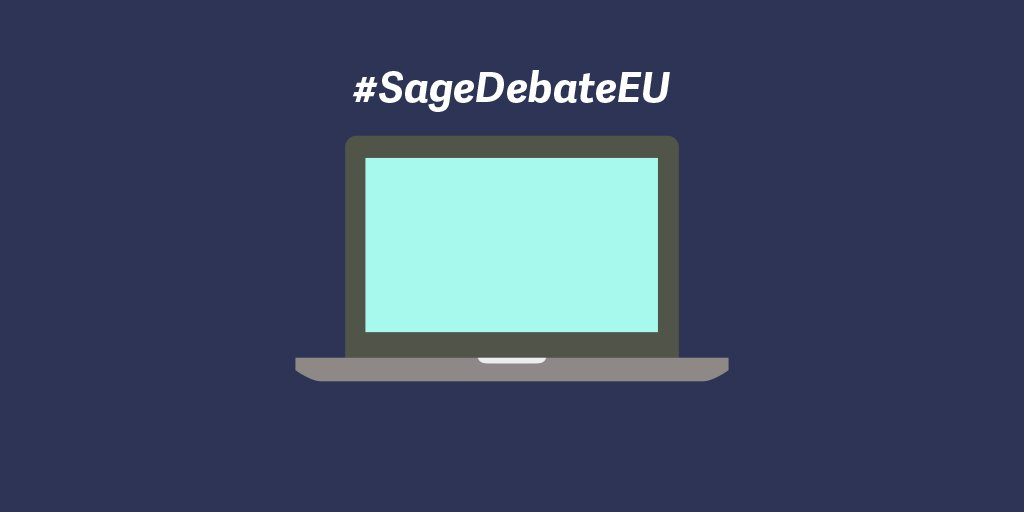 In or out? Brexit & your #smallbiz. Take a front seat at the #SageDebateEU. Register now https://t.co/NYqb9DFBlE https://t.co/QbCJdg4n68