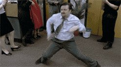 Its #ThrowbackThursday and #GIFparty is trending so let's not forget this dance on TV moment  #TheOffice #davidbrent https://t.co/c4AT3gh3L6
