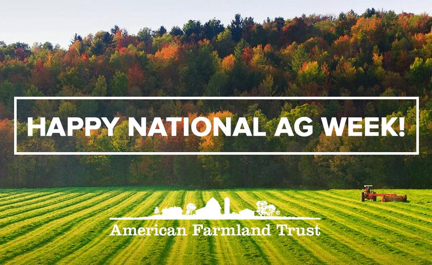Happy #NationalAgWeek all! Join us in celebrating America's hardworking farm families. Remember #NoFarmsNoFood https://t.co/K37LzRkl96