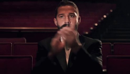 Shia LaBeouf after today's announcement. #Indy5 https://t.co/HswJfbIbCA