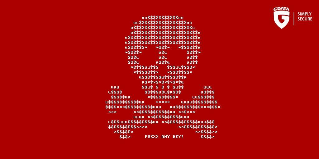 Ransomware #Petya verschlüsselt Festplatte. G DATA entdeckt neuen Typ von #Ransomware: https://t.co/BDd1ep9fb7 https://t.co/DXsvU8MtiF