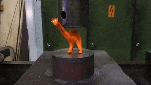 Playdough giraffe vs. hydraulic press https://t.co/cb5bnr6lyT
