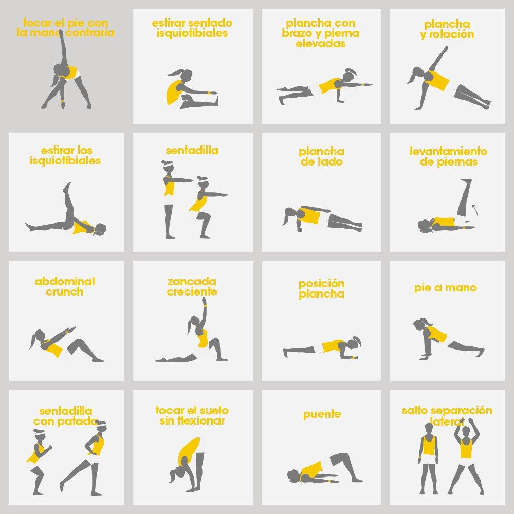 16 ejercicios para que recuperes la forma después de Semana Santa, ¿con cuál comienzas?