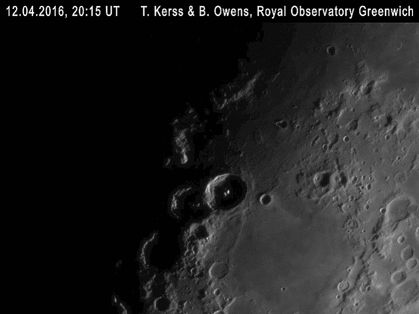 What a fluke! Last night our astronomers were observing the Moon just as @astro_timpeake passed by. We waved!