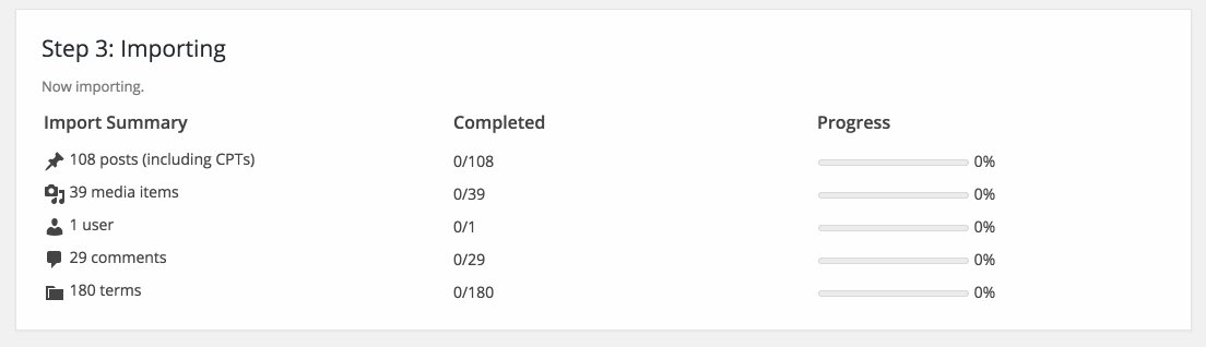 New WordPress Importer UI, coming soon. https://t.co/wM6cZY6BSk
