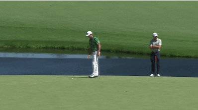 Billy Horschel's ball rolls off the green and into the water on 15. https://t.co/RxOyVyc1q2