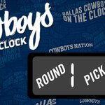 The Dallas Cowboys are NOW on the clock... #CowboysDraft https://t.co/ivhrYK9iWI