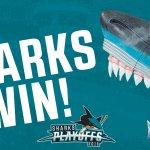#SJSharks WIN GAME 1!   #SmashNash https://t.co/Z9hGv4x3Dl
