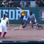T1 - Cal scores on a wild pitch to take a 1-0 lead. @haleysnyder21 ends the inning with a strikeout. #GoStanford https://t.co/uDWCJiHGbG