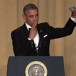 """???????? RT @WhiteHouse """"With that, I have just two more words to say: Obama Out."""" —@POTUS #WHCD https://t.co/0kosLRJjiT"""