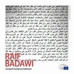 Dag voor #persvrijheid. Steun de oproep van @Raif_Badawi voor vrijheid van meningsuiting met een RT. https://t.co/Gp6Q8UTOxn