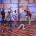 Jared Nickens and Jaylen Brantley brought the Running Man Challenge to @TheEllenShow. https://t.co/FXTy31r8eE https://t.co/rqyWxZ0h1d
