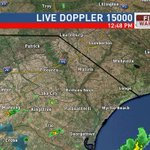 1:47pm - Scattered showers out there now. More storms will eventually develop and could be strong/severe #scwx https://t.co/PoumgwQmv8