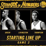 Tonights Game 2 starters. #StrengthInNumbers https://t.co/LEs3o2VHrJ