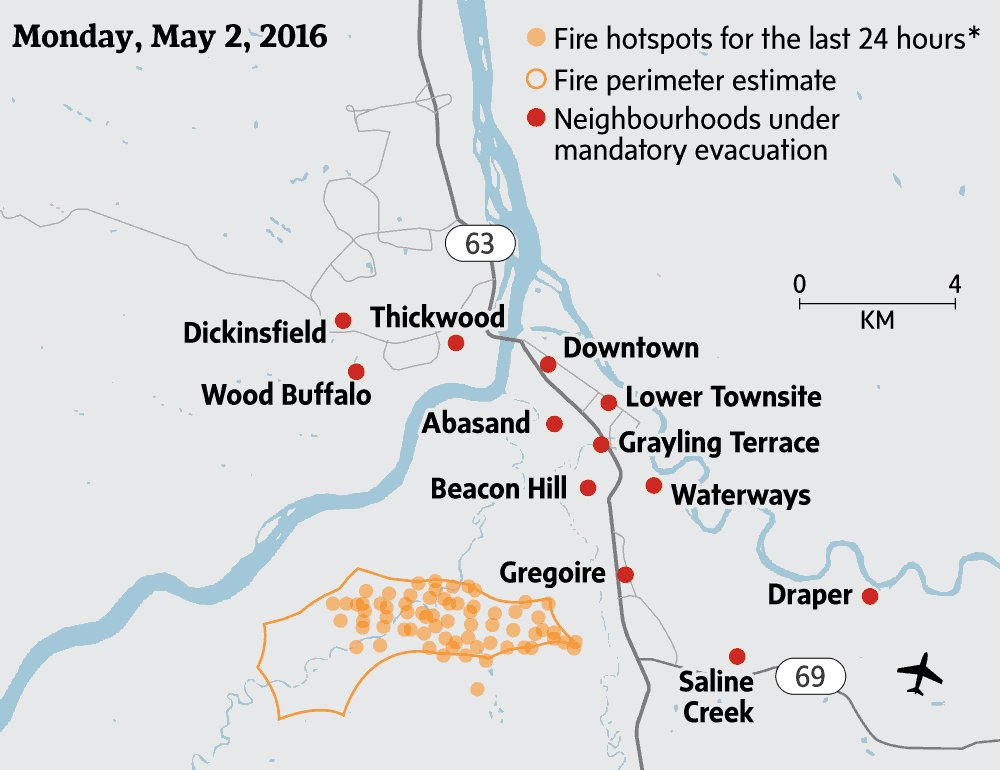 How the fire spread. #FortMacFire #yymfire https://t.co/ppxGgPSz21 https://t.co/1BFIosMBoC