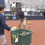 Jim Harbaughs prepping for a home run derby with some tee ball and some dabbing: https://t.co/1OJTCnsKBD https://t.co/O5jH5R7UiE