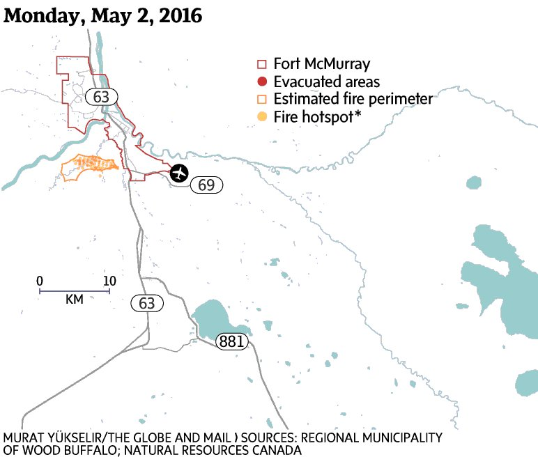 A relentless path. Updated look at how the fire has spread. https://t.co/k6ighEZYsQ #FortMacFire #ymmfire https://t.co/PJhURe8RCA