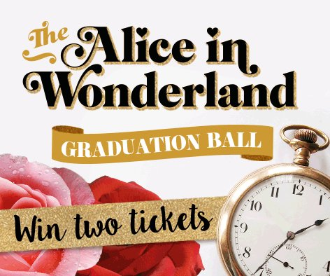 Tick-tock, it's competition time! RT or fave the below GIF & you could win 2 FREE Grad Ball tickets! https://t.co/st1FUhsw7y