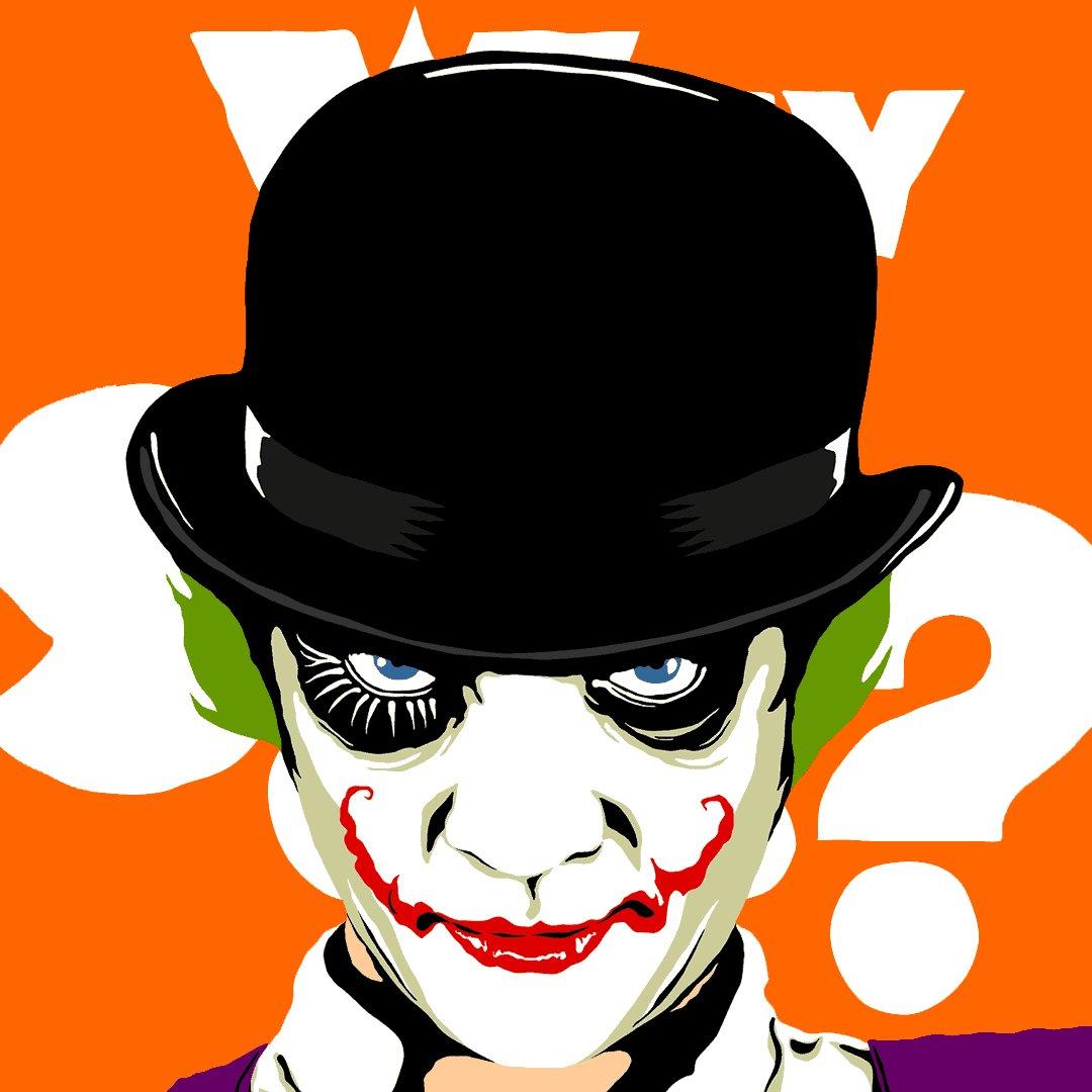Why... so... serious? https://t.co/N5ZU7NdeMX #joker #kubrick #gif https://t.co/IvOYP2HvC2