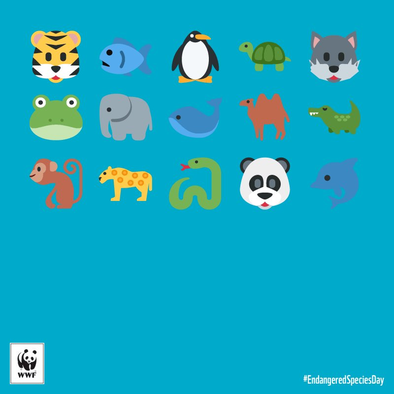 RT @WWF: Extinction... Together we can ensure it doesn't happen. It's #EndangeredSpeciesDay. #EndangeredEmoji https://t.co/OrrkL3tLWy