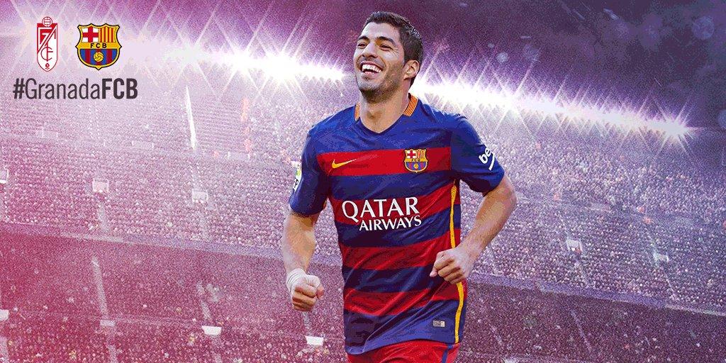 RT @FCBarcelona: GOALLL!!!!! Luis Suárez puts Barça ahead in Granada! 1-0 to the blaugranes #GranadaFCB #fcblive https://t.co/GV7l4TPfj7