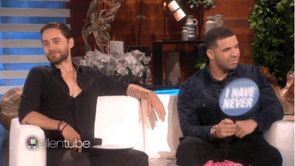 RT @TheEllenShow: I played Never Have I Ever w/ @JaredLeto & @Drake. There's not a lot they've never ever done https://t.co/Y0xMzVXcjp http…