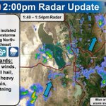 Isolated thunderstorms developing. Watch for small hail accumulating, gusty winds & lightning. #utwx https://t.co/0NgUEYh1N4