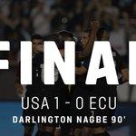 FINAL: #USMNT 1, Ecuador 0. @darlingtonnagbe scores an impressive goal in the 90th minute! #USAvECU https://t.co/PCeAwq7CC3