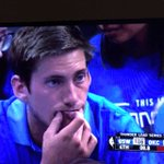 This guy is trying to avoid frowning by holding the corners of his mouth up #WesternConferenceFinals #NBAPlayoffs https://t.co/sy3Nj1aCD1