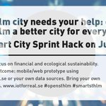 How can #iot #hardware #BigData build the #SmartCity? #stockholm needs your help! Join now: https://t.co/KtHgsX7Ea3 https://t.co/vSqKr3I1Nf