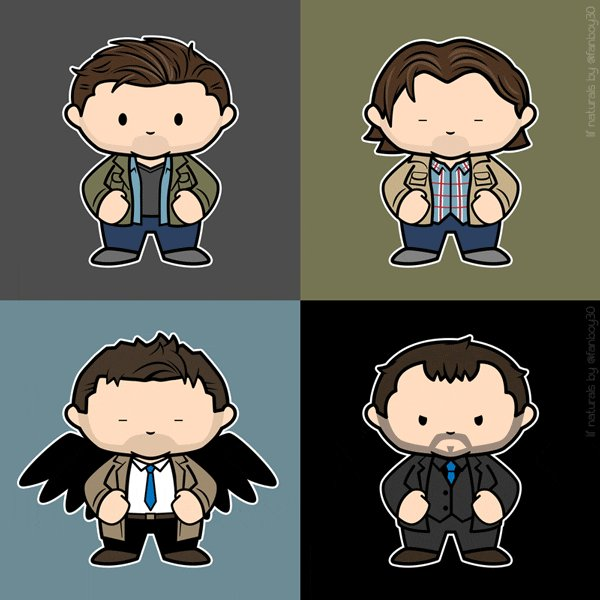 #SupernaturalArtShow Shake Yer Assbutts! My 'Lil'Naturals' https://t.co/Zov7ykKNCh #SPNFamily https://t.co/VsMfe5nRbC