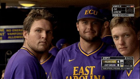 That feeling when you advance to the Super Regionals @ECUBaseball https://t.co/ay6mIJFeHC